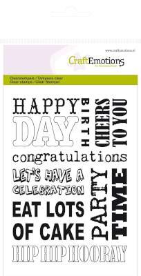 CraftEmotions - Clearstamp - Background Party - 130501/1131