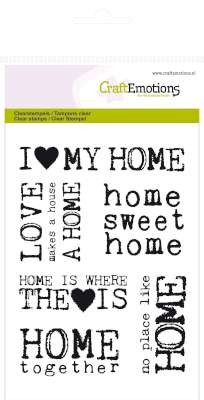 CraftEmotions - Clearstamp - Background - Home sweet home - 130501/1130