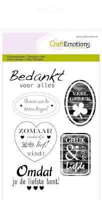 CraftEmotions - Clearstamp - tekst labels divers (NL) - 130501/1126