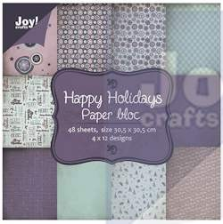 Joy! crafts - Noor! Design - Paperpack - Happy Holidays - 6011/0703