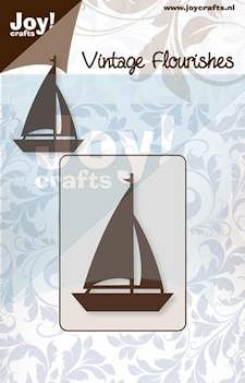 Joy! crafts - Noor! Design - Die - Vintage Flourishes - Zeilboot
