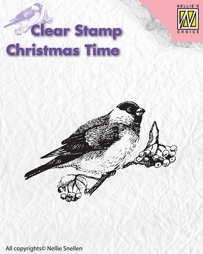 Nellie Snellen - Clearstamp - Christmas Time - Bird - CT011