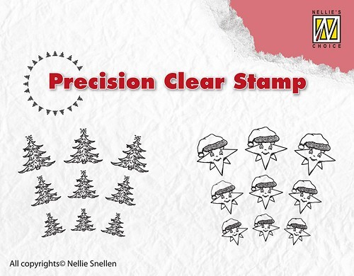 Nellie Snellen - Clearstamp - Precision - Christmas tree-star - APST027