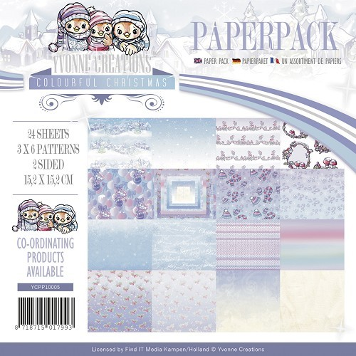 Yvonne Creations - Paperpack - Colourful Christmas - YCPP10005