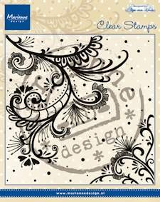Marianne Design - Clearstamp - Anja`s swirl - CS0939