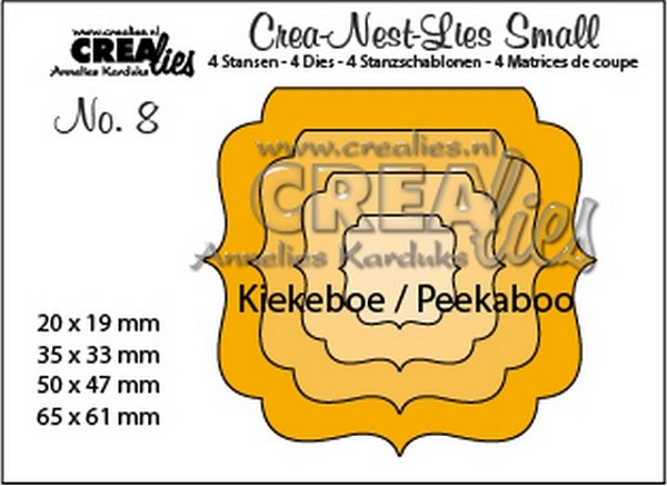 Crealies - Die - Crea-Nest-Lies Small - Kiekeboe ornament vierkant