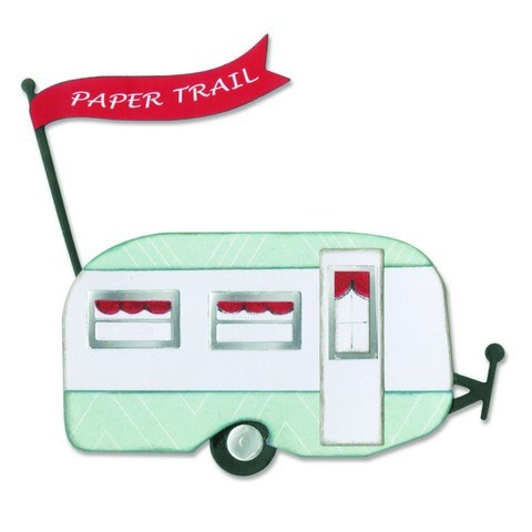 Sizzix - Die - Thinlits - Travel Trailer