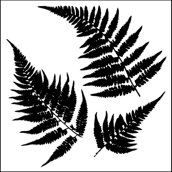 TheCraftersWorkshop - Maskingstencil - Mini Ferns - TCW243s