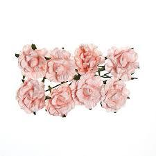 ScrapBerry`s - Paper Flowers - Curly Rose: Light Pink - SCB280604