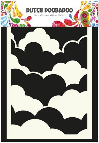 Dutch Doobadoo - Maskingstencil - Clouds (A6) - 470.741.001