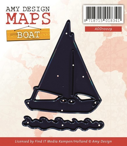 Card Deco - Amy Design - Die - Map Collection - Boat