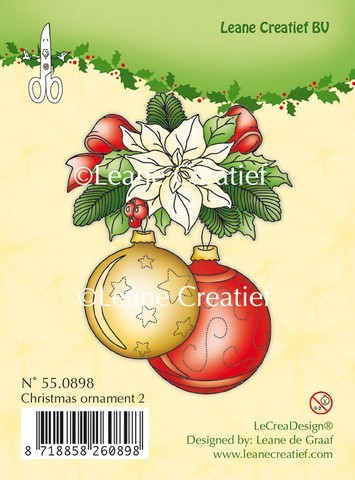 Leane Creatief - Clearstamp - Christmas ornament 2 - 55.0898
