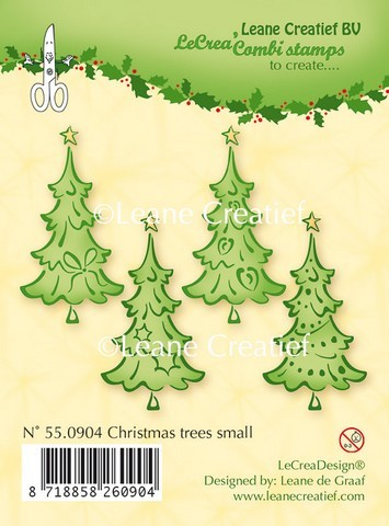 Leane Creatief - Clearstamp - Christmas trees small - 55.0904