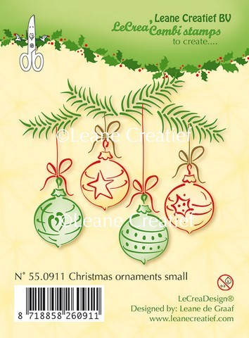 Leane Creatief - Clearstamp - Christmas ornaments small - 55.0911