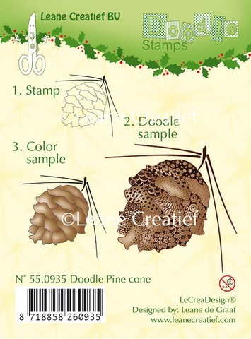 Leane Creatief - Clearstamp - Doodle - Pine Cone - 55.0935