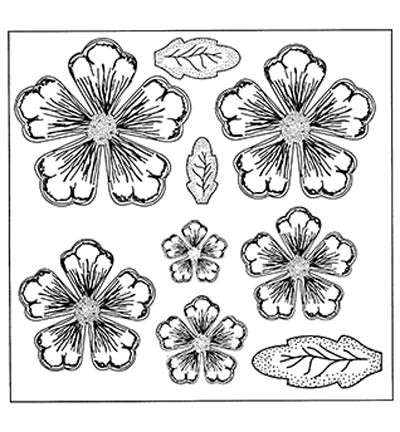 Creative Expressions - Cling Stamp - Stamps To Die For - Shaded Peony - UMS633