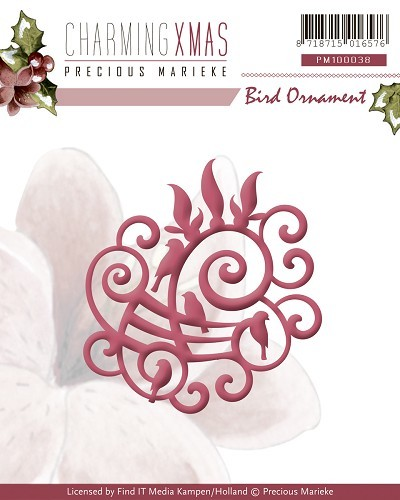 Card Deco - Precious Marieke - Die - Charming Xmas - Bird Ornament