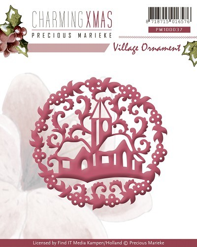 Precious Marieke - Die - Charming Xmas - Village Ornament - PM10037