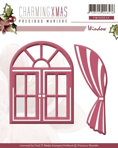 Precious Marieke - Die - Charming Xmas - Window - PM10034