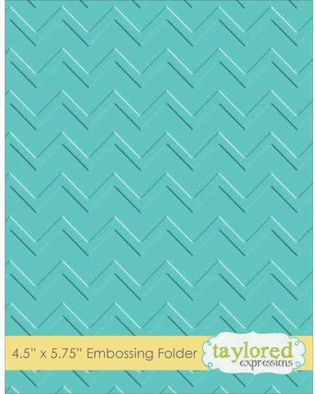 Taylored Expressions - Embossingfolder - Zig Zag