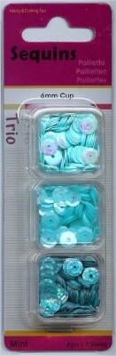 Hobby & Crafting Fun - Pailletten - Trio: Mint - 12053-5308