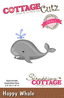 Cottage Cutz - Die - Happy Whale - CCE-274