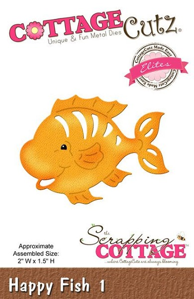 Cottage Cutz - Die - Happy Fish 1 - CCE-272