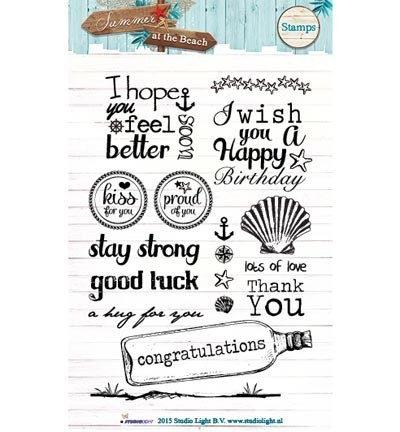 Studio Light - Clearstamp - Summer at the Beach - STAMPSB107