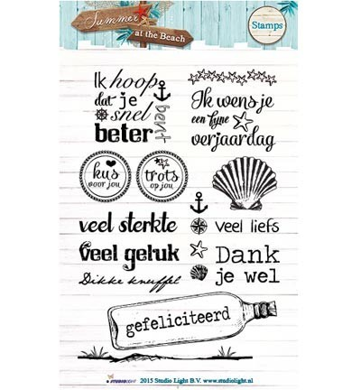 Studio Light - Clearstamp - Summer at the Beach - STAMPSB106