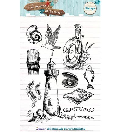 Studio Light - Clearstamp - Summer at the Beach - STAMPSB105