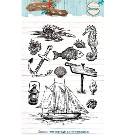 Studio Light - Clearstamp - Summer at the Beach - STAMPSB104