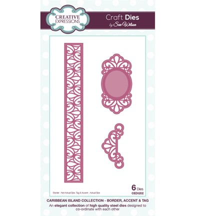 Creative Expressions - Die - The Caribbean Island Collection - Border, accent & tag