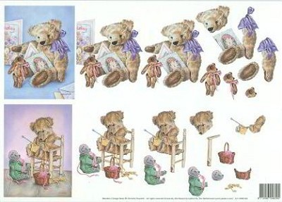 Christine Haworth - 3D-knipvel A4 - Meadow Cottage Bears