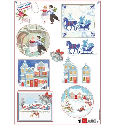 Marianne Design - Els Wezenbeek - 3D-knipvel A4 - Made in Holland - winter - EWK1235