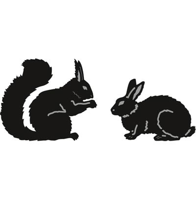 Marianne Design - Die - Craftables - Tiny`s Animals - Squirrel & rabbit - CR1340