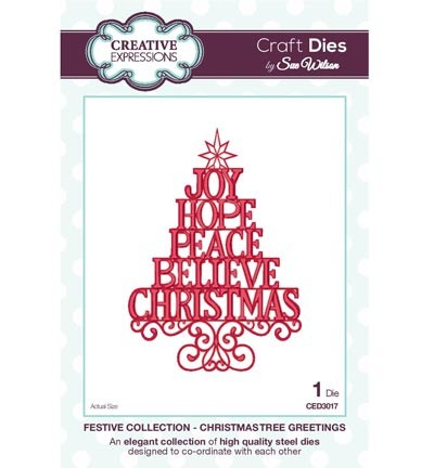 Creative Expressions - Die - The Festive Collection - Christmas Tree Greetings