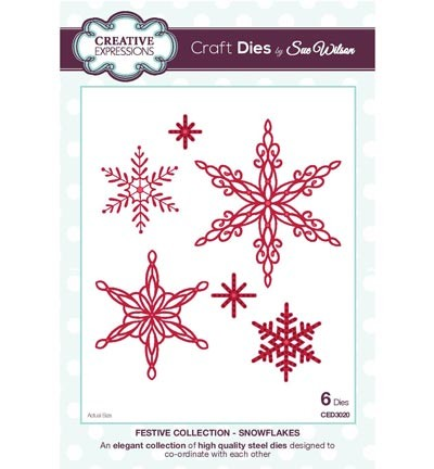 Creative Expressions - Die - The Festive Collection - Snowflakes - CED3020