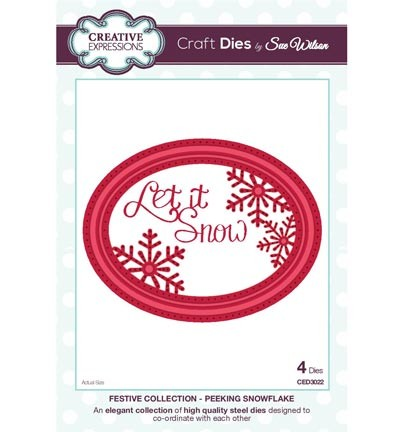 Creative Expressions - Die - The Festive Collection - Peeking Snowflake