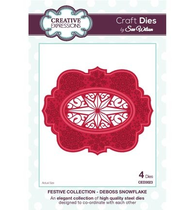 Creative Expressions - Die - The Festive Collection - Deboss Snowflake