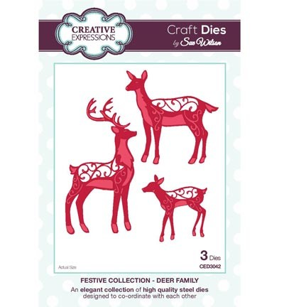 Creative Expressions - Die - The Festive Collection - Deer Family