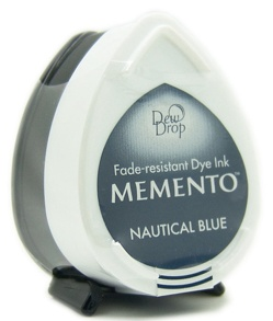 Tsukineko - Inkt - Memento - Dew Drop - Stempelkussen: Nautical Blue - MD-607