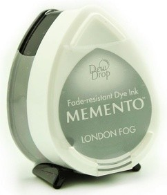 Tsukineko - Inkt - Memento - Dew Drop - Stempelkussen: London Fog - MD-901