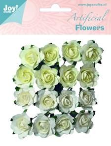 Joy! crafts - Artificial Flowers: wit-creme - 6370/0063