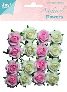 Joy! crafts - Artificial Flowers: wit-roze - 6370/0065