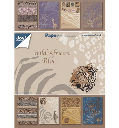 Joy! crafts - Paperpack - Wild African Bloc - 6011/0081