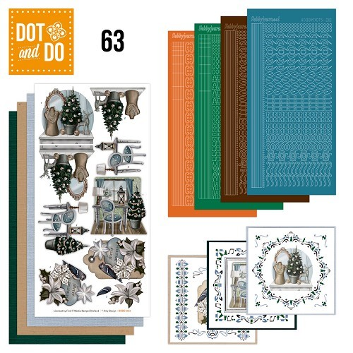 Card Deco - Kaartenpakketten - Dot & Do - No. 63 - Brocante Kerst - DODO063