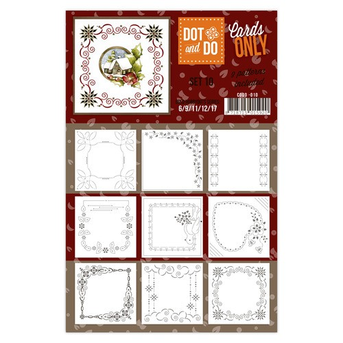 Card Deco - Oplegkaarten - Dot & Do - Cards Only - Set 10 - CODO010