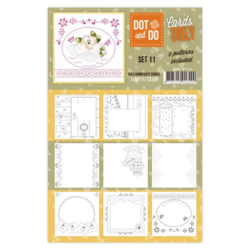 Card Deco - Oplegkaarten - Dot & Do - Cards Only - Set 11 - CODO011