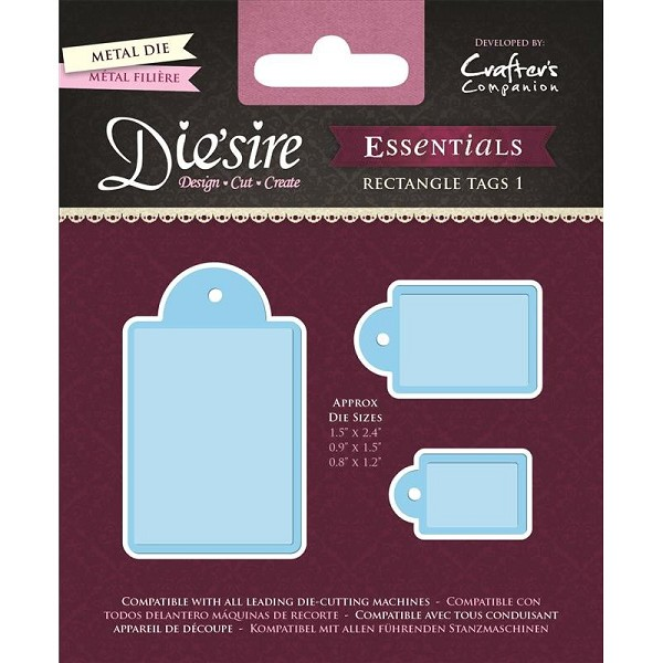 Die`sire - Die - Essentials - Rectangle Tags 1 - DS-E-RT1