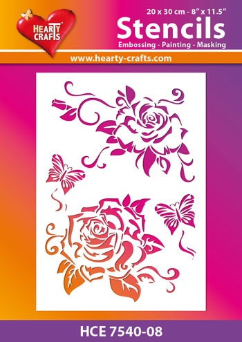 Hearty Crafts - Maskingstencil - Rose - HCE7540-08